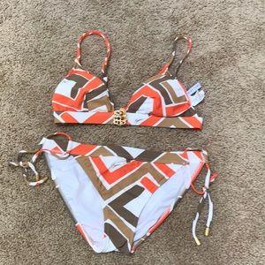 Trina Turk small orange combo bikini set